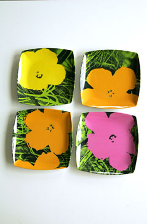 Andy Warhol 1960's Flower Plates