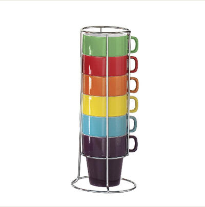 coffee cup tower