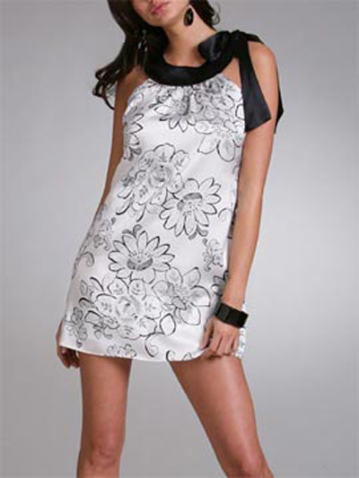 Silk Blossom Shift Dress