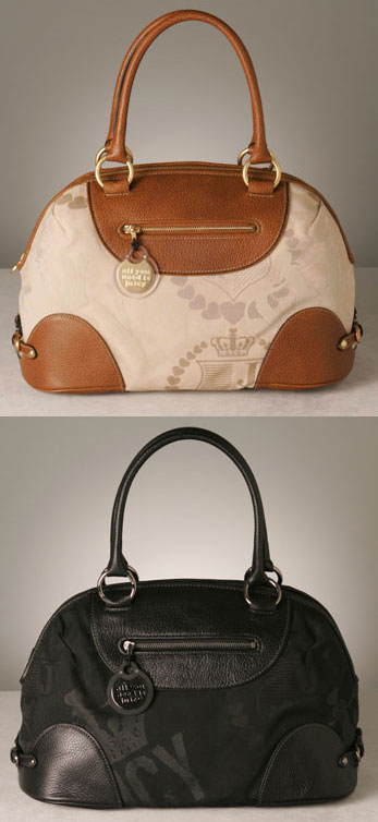 Juicy Couture Jacquard Bowler Bag