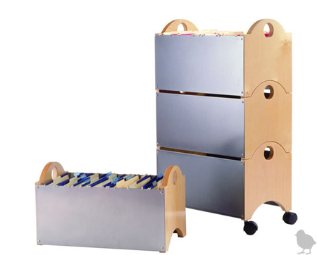 Blu Dot Stackable File With Casters