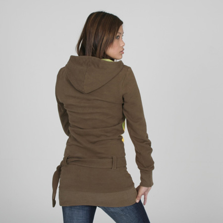Lari Olive Hooded Dress
