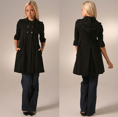 Juicy Couture Pleated Empire Coat