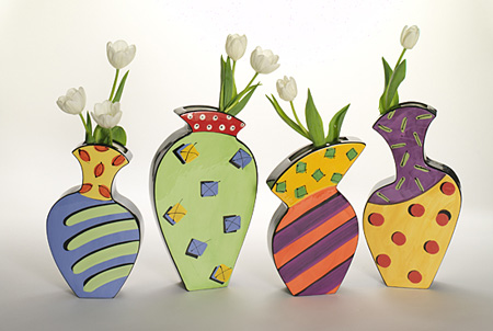 Spring Set Ceramic Vases