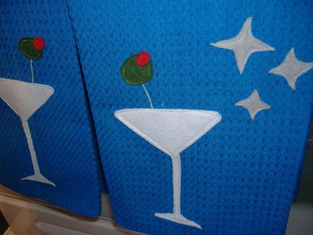 Swingin Martini Glass Dish Towles
