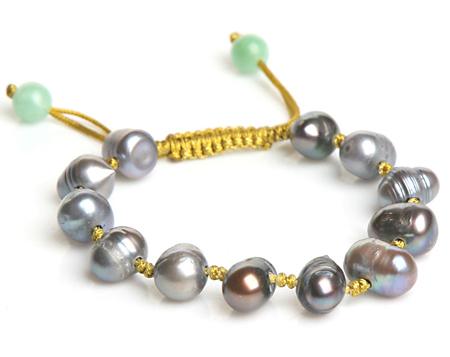 Brian Nagourney Black Pearl Amazonite Bracelet