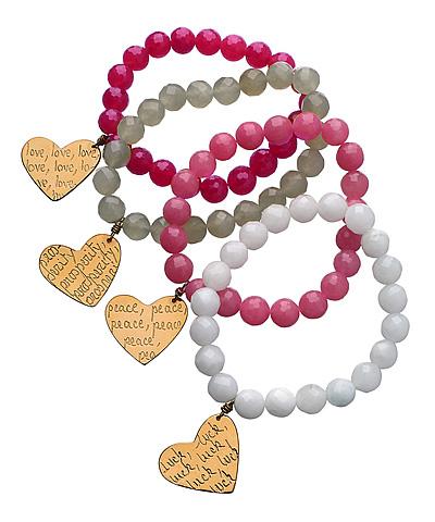 Mercedes Salazar Heart Bracelets