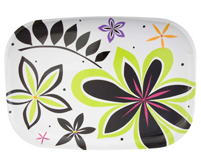 In Bloom Melamine Serving Tray