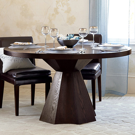 Round Faceted Pedestal Table