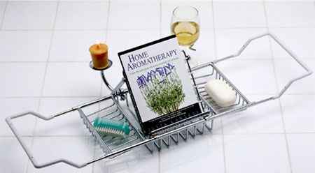 Aromatherapy Bath Caddy With Reading Rack