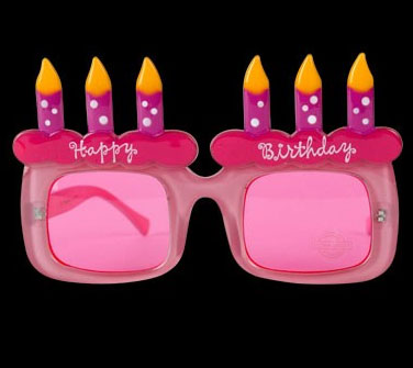 Pink Birthday Glasses From Spencer's