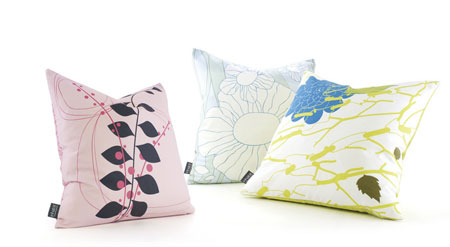 Inhabit Blush Throw Pillows