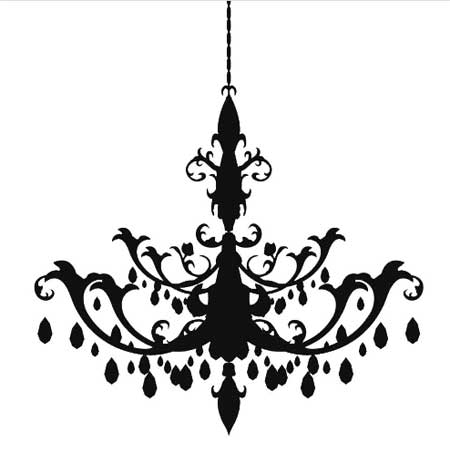 Shadow Chandelier Decal