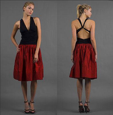 Black and Red Sleeveless Dresses by BCBG MAXAZRIA