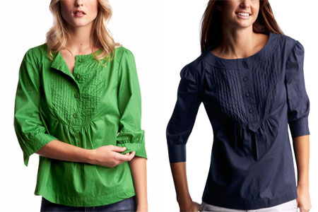 Gap 3/4-sleeved Trapeze Top