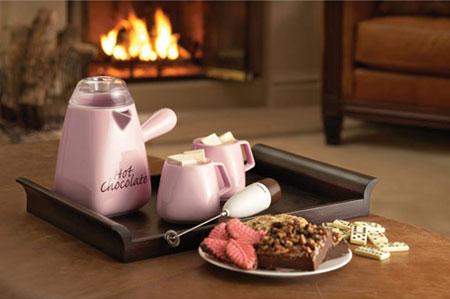 Bonjour Pink 4-pc. Hot Chocolate Making Set