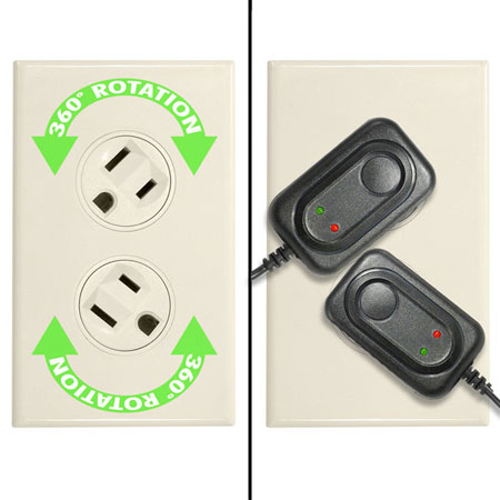Ivory 360-Degree Rotating Outlet