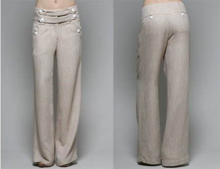 Herringbone Wide Legged Pants