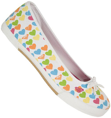 Roxy Mary Ann Hearts Shoes