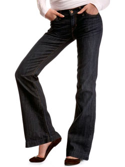 Gap's Long and Lean Crosshatch Rinsed  Jeans