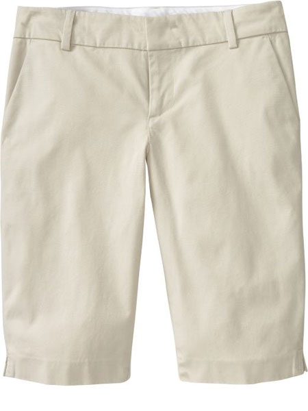 Mid-Rise Clean-Front Bermudas from Old Navy