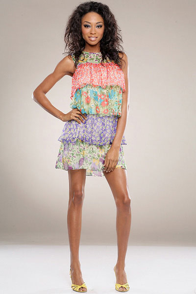 Nu Collective Tiered Print Dress
