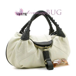 OFF White Biege Genuine Leather Inspired Spy Bag - Detective Handbag
