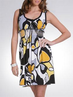 Arden B Printed Babydoll Dress