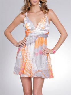 Arden B Chiffon Bubble Dress