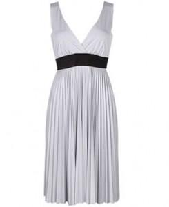 Forever 21 Pleated V Neck Dress