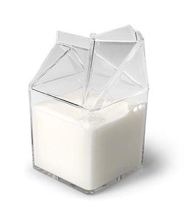 Acrylic Milk Carton Cream Jug by Abbott