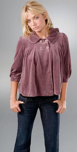 Juicy Couture Velvet Puff Sleeve Jacket