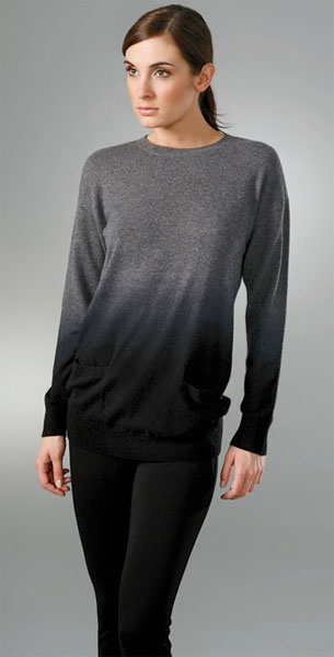 Vince Ombre Easy Crew Cashmere Sweater