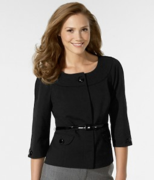Wool Faille Trapunto Collar Jacket from Ann Taylor