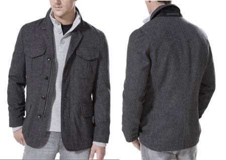 Wool Herringbone Military Jacket from Express