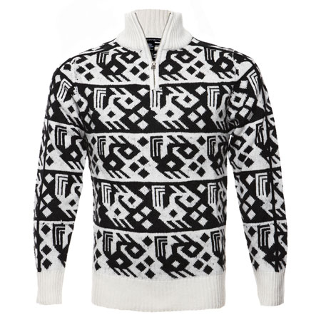 French Connection Aztec Printed Knit Sweater