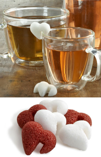 French Red & White Heart-Shaped Sugar