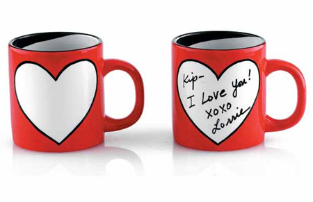 Heart Mug and Pen from Wrapables