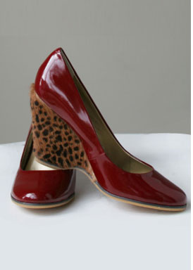 Poetic License Red Patent Wedges