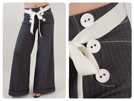 Wendy Katlen High Waisted Sailor Pants