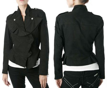 William Rast Outerwear Black Cropped Jacket