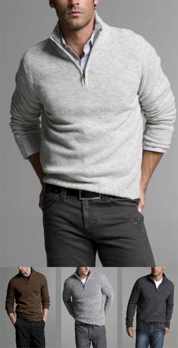 Half-zip Mock Neck Sweater