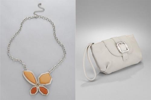 Butterfly Necklace & Buckle Wristlet