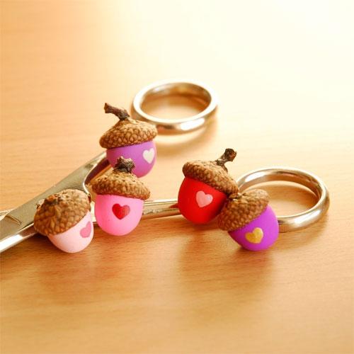 Valentine Acorn Magnets