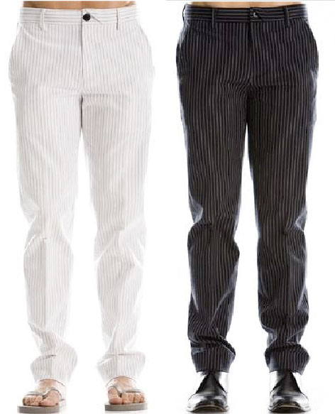 Armani Exchange Striped Seersucker Pant