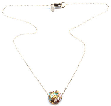 Cloisonne Bead Necklace from Peggy Li