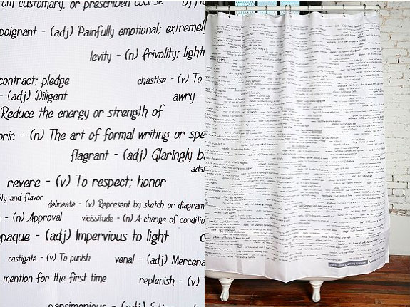 Attractive SAT Words Shower Curtain Damn I Like That